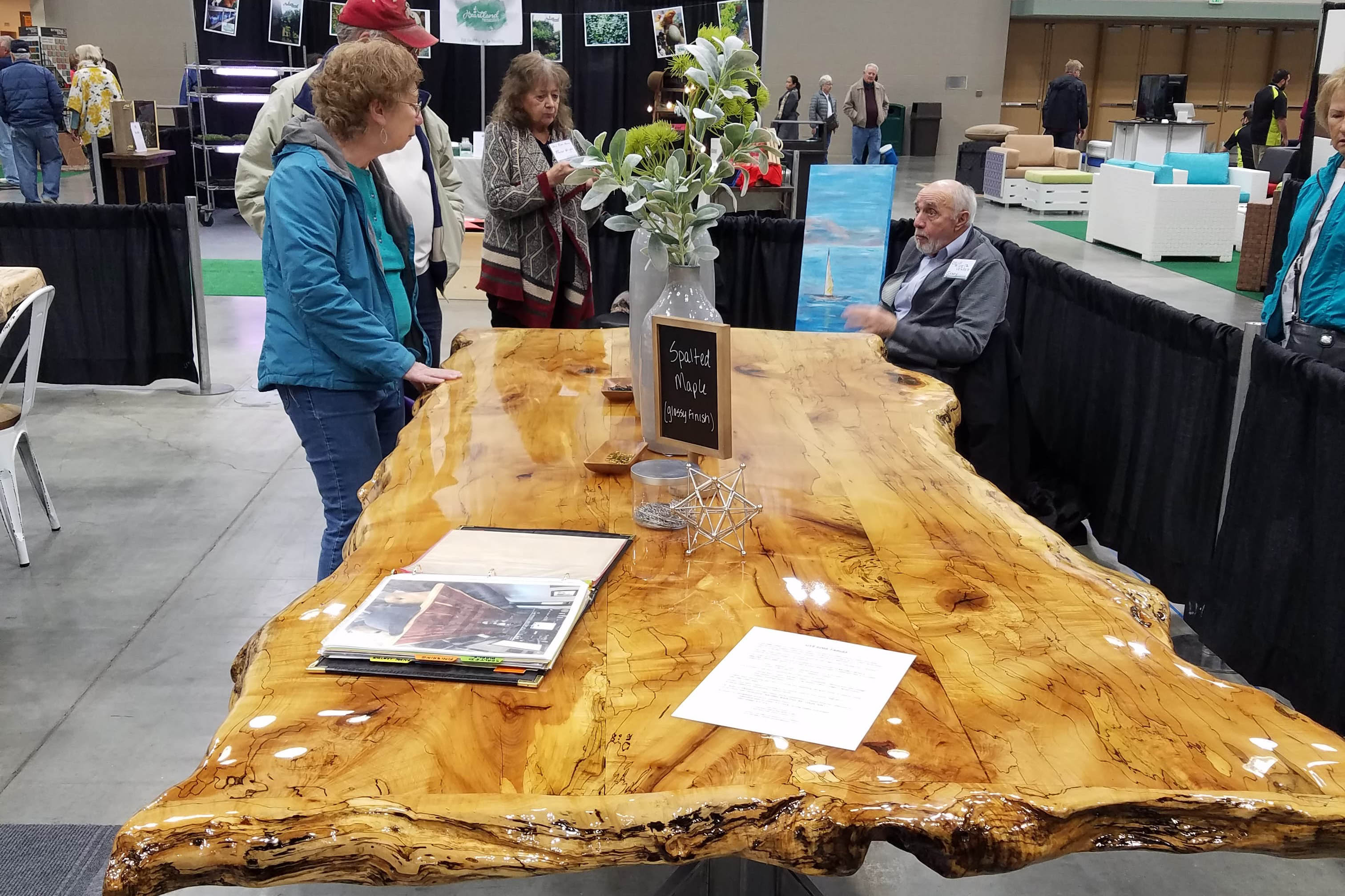 Ohio River and Veneer custom table